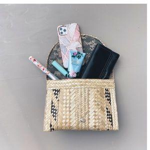 Anthropologie Straw Clutch Bag